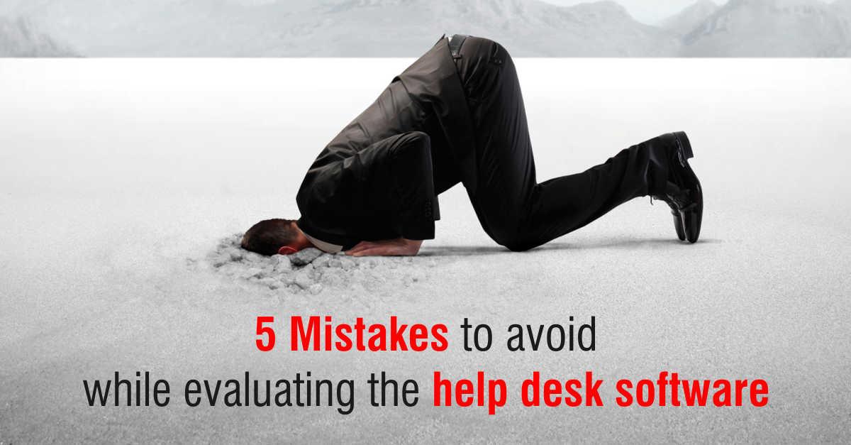 5 mistakes help desk