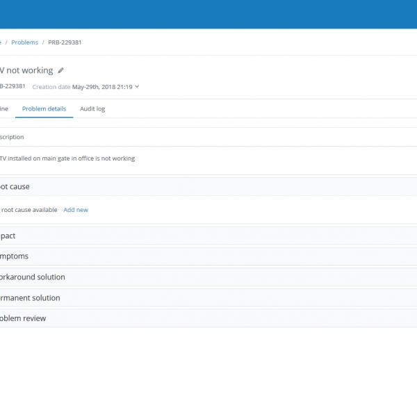 Problem Management - Service Desk Software