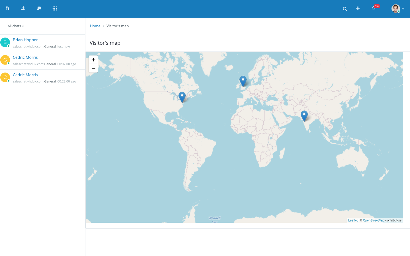 Live Chat Map